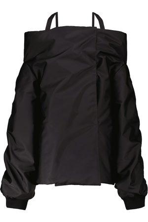 Prada Nylon off-the-shoulder jacket