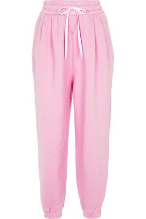 Miu Miu Drawstring cotton sweatpants