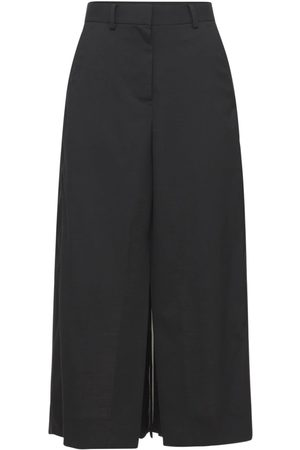 SACAI Wool Suiting Mix Skirt W/ Front Slit