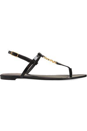 Saint Laurent 10mm Cassandra Patent Leather Sandals
