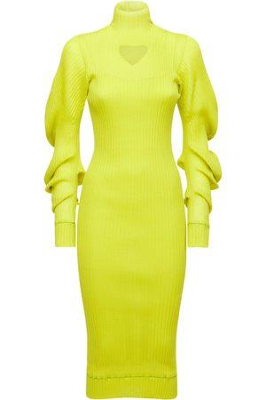 Bottega Veneta Women Midi Dresses - Wool Rib Knit Midi Dress