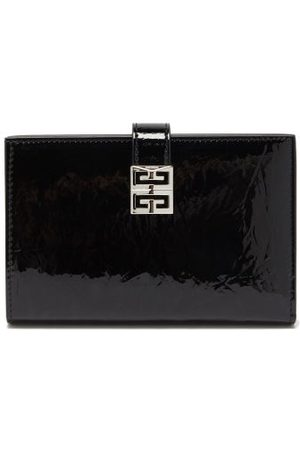 Givenchy 4g-engraved Patent-leather Bifold Wallet - Womens