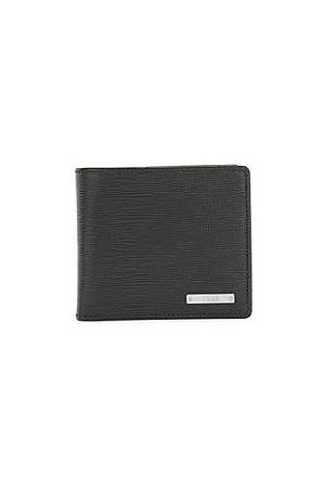 HUGO BOSS Italian-leather wallet with logo plate and coin pocket