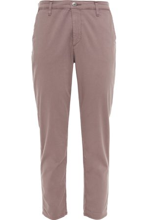 AG JEANS Woman Caden Cropped Cotton-blend Twill Slim-leg Pants Taupe Size 23