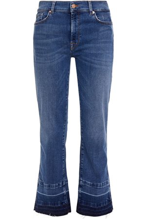 7 FOR ALL MANKIND Women Bootcut - Woman High-rise Kick-flare Jeans Mid Denim Size 29