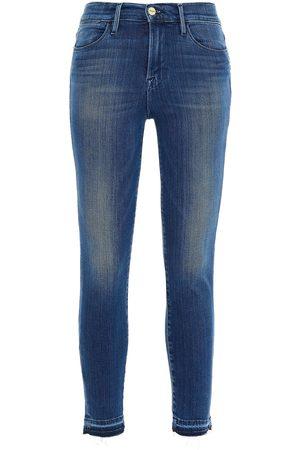 Frame Women Skinny - Woman Le High Skinny High-rise Skinny Jeans Mid Denim Size 23