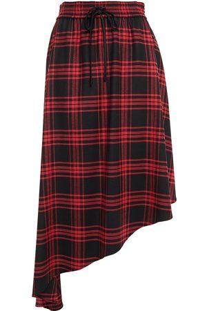 ALICE + OLIVIA Woman Natalina Asymmetric Checked Twill Skirt Size 0
