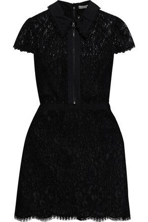 ALICE+OLIVIA Women Dresses - Woman Ellis Poplin-trimmed Corded Lace Mini Dress Size 0