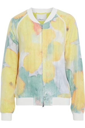 3.1 PHILLIP LIM Women Summer Jackets - Woman Layered Printed Fil Coupé Organza Bomber Jacket Size 4