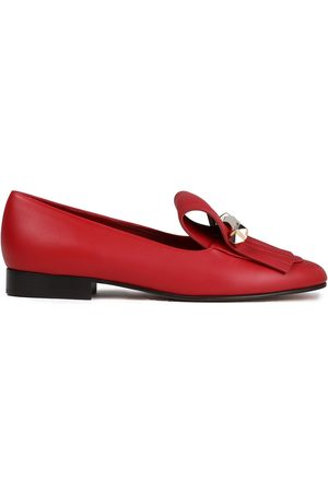 VALENTINO GARAVANI Women Loafers - Woman Uptown Studded Fringed Leather Loafers Size 36