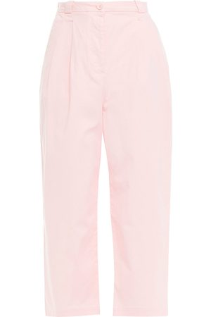 AMERICAN VINTAGE Women Trousers - Woman Pitastreet Cropped Cotton-blend Twill Straight-leg Pants Baby Size S