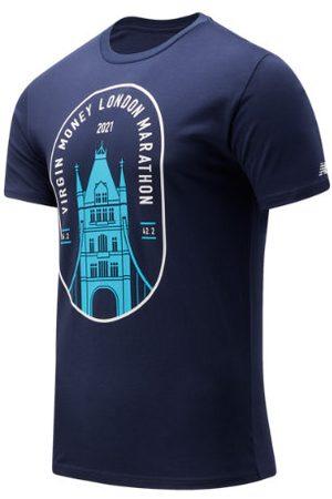 New Balance Men's London Edition Tower Bridge Graphic Tee - Navy, Navy