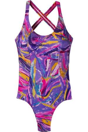Amir Slama Women Beachwear - 8574 pincelado rodamina ??? Elastodiene