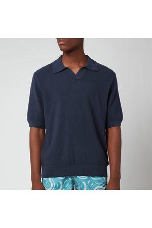 Frescobol Carioca Men Polo Shirts - Men's Rino Cotton Silk Blend Polo Shirt