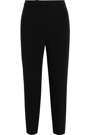 THEORY Women Trousers - Woman Carrot Cropped Crepe Tapered Pants Size 0