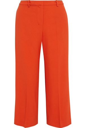 THEORY Woman Cropped Crepe Wide-leg Pants Bright Size 0