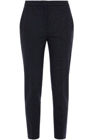 PIAZZA SEMPIONE Women Trousers - Woman Cropped Pinstriped Woven Tapered Pants Size 38