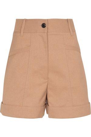 Victoria Beckham High-rise cotton-blend shorts