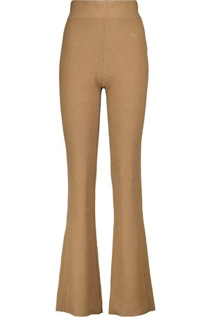 Frame Ribbed-knit cotton-blend pants