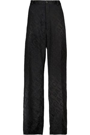 Balenciaga Logo jacquard straight pants