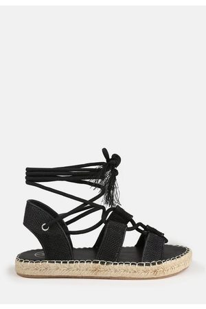 Missguided Rope Tie Up Espadrille Flat Sandals