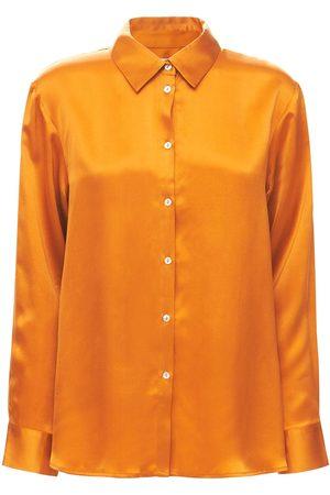 ASCENO Women Pyjamas - The London Silk Pajama Shirt