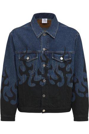 Vetements Black Fire Cotton Denim Jacket