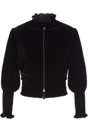 Armani Viscose & Silk Cropped Zip-up Jacket