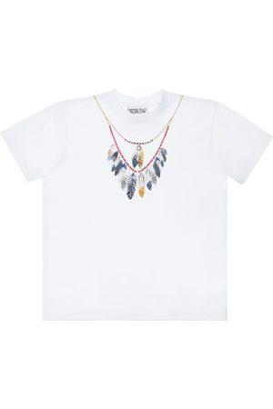 MARCELO BURLON Printed Cotton Jersey T-shirt
