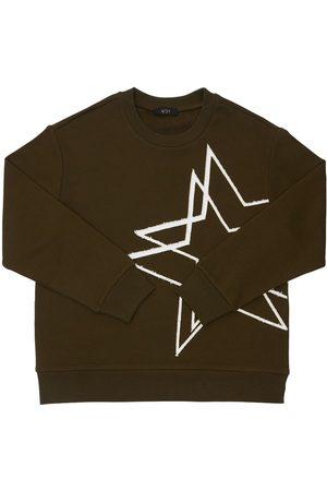 Nº21 Star Print Cotton Sweatshirt