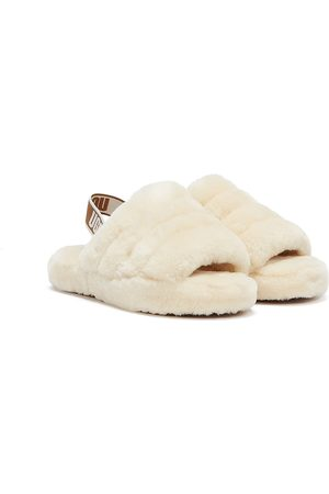 UGG Fluff Yeah Kids Natural Slippers