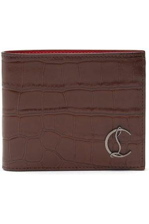 Christian Louboutin Coolcard Croc-effect Leather Bi-fold Wallet - Mens