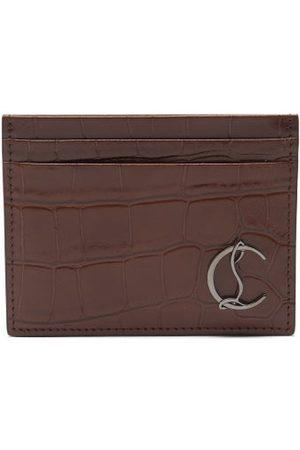 Christian Louboutin Kios Croc-effect Leather Cardholder - Mens
