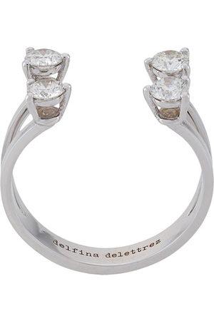 DELFINA DELETTREZ Women Rings - Dots diamond ring - Metallic