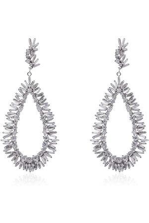Suzanne Kalan Pear drop diamond earrings