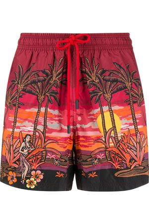 Etro Palm tree print swim shorts