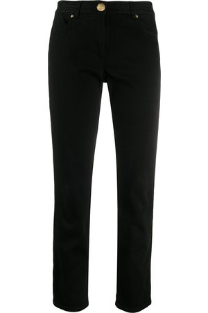 Escada Women Skinny - Stitch-embellished skinny jeans