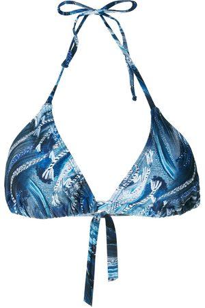 Lygia & Nanny Iasmim print bikini top
