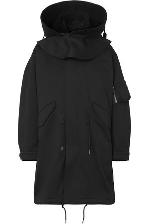 Burberry Logo-print parka coat