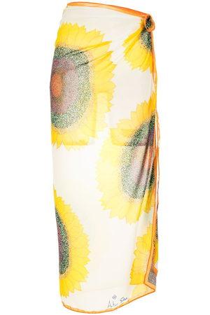 AMIR SLAMA Printed beach skirt