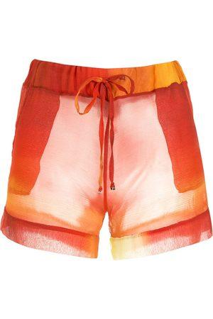 AMIR SLAMA Printed silk shorts