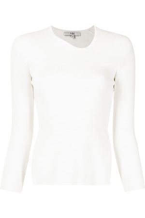 Tibi Cut-out long-sleeved knitted top