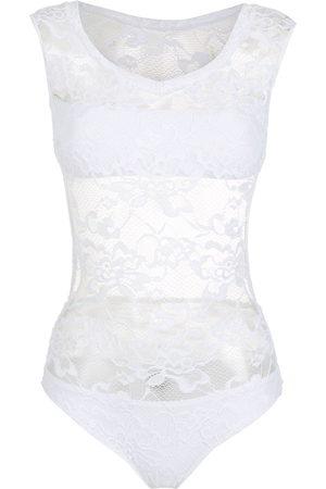Amir Slama Lace-panelled bodysuit