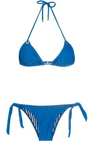 AMIR SLAMA Women Bikinis - Textured triangle bikini