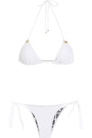 Amir Slama Textured triangle bikini set