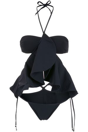 AMIR SLAMA Ruffle-detail bikini set