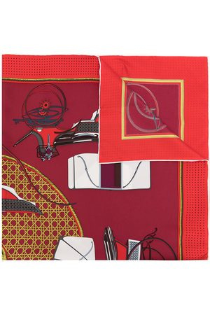 Hermès 1990s pre-owned Les Voitures a Transformation silk scarf