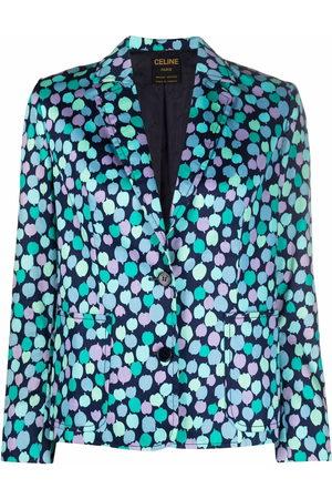 Céline 1980 pre-owned petal-print blazer