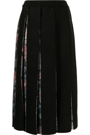 Antonio Marras Women Pleated Skirts - Rose-print pleated skirt
