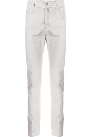 Kiton Logo patch straight-leg jeans